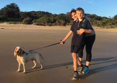 Take your furry friend on an exploring walk on the neighbouring beach.